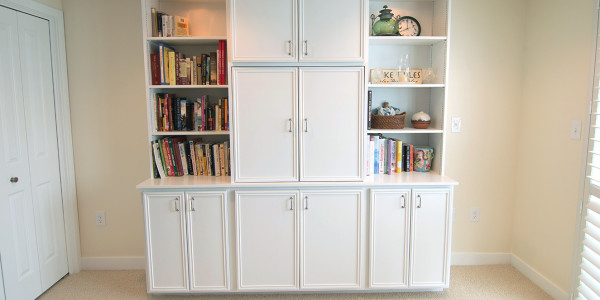 white custom storage cabinets and shelves lighthouse contracting group