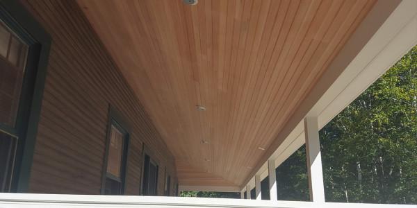 fir ceiling farmers porch belmont nh
