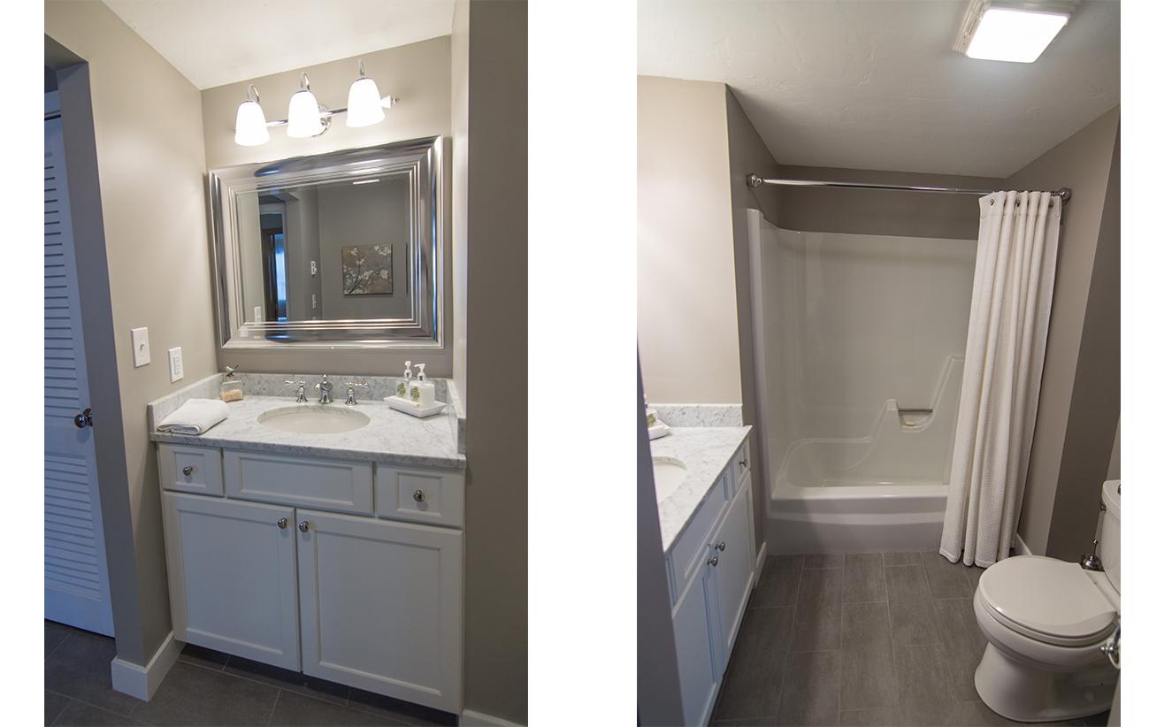 Bathroom Remodel Nh guest-bathroom-remodel-tile-floor-fiberglass-tub-marble-vanity