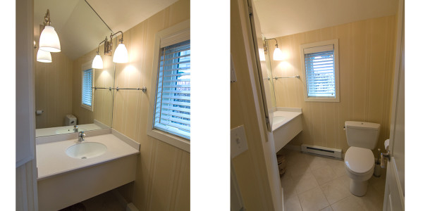 half bath renovation lakes region contractor