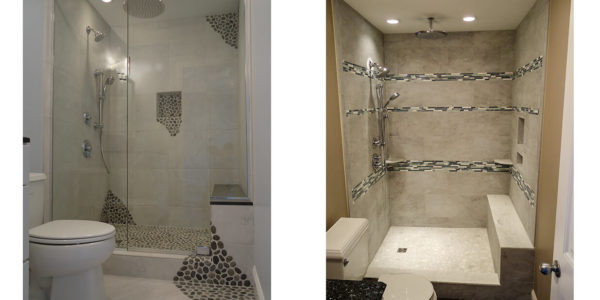 custom tile bathroom shower lakes region nh contractor