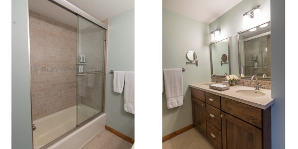 lake winnipesaukee condo tile bathroom renovation neutral lighthouse contracting