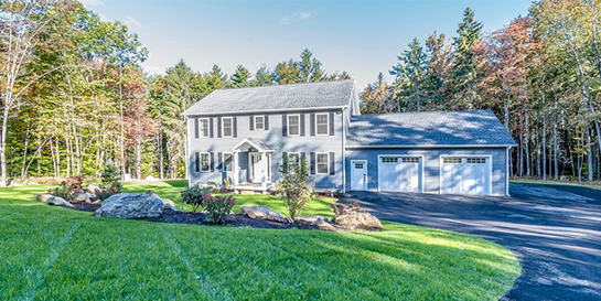 parade of homes entry craftsman inspired colonial home build gilford nh