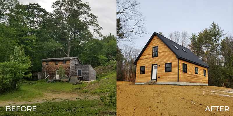 before and after new construction gilford nh