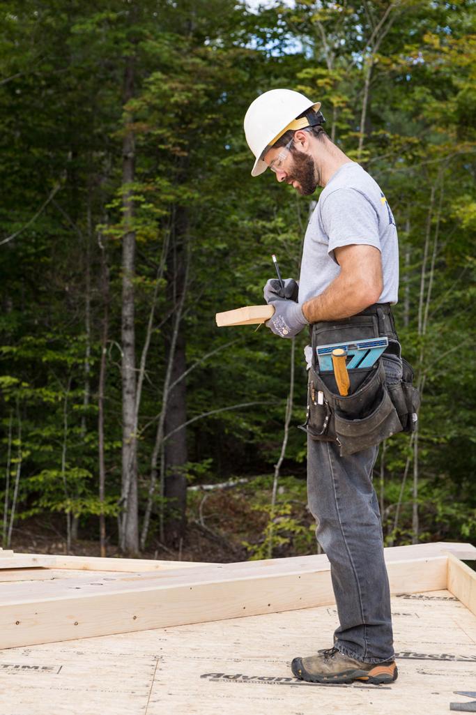 bill wood lead carpenter on the job site