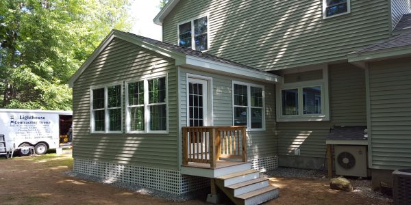 completed home addition outside view laconia nh