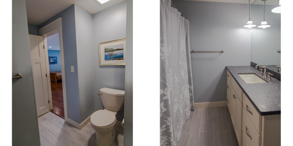 grey blue lake house bathroom remodel by lighthouse contracting group gilford nh