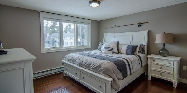 remodeled master bedroom lake house decor and design