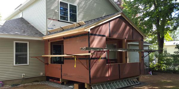 custom home addition in progress laconia nh