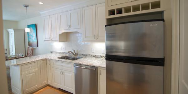 kitchen remodel white subway tile backsplash white cabinets gilford nh