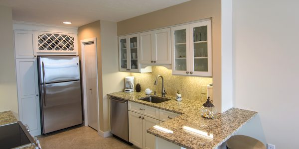 condo kitchen remodel white cabinets tilde floors gilford nh