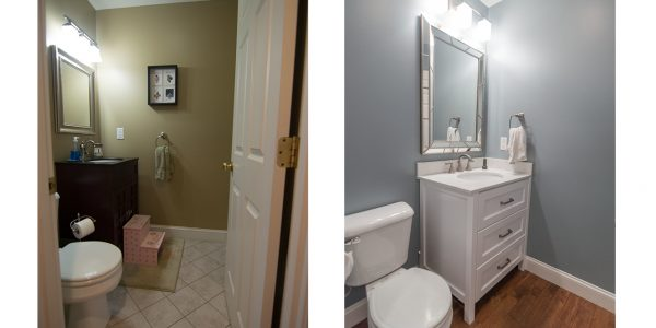 before and after half bath remodel gilford nh