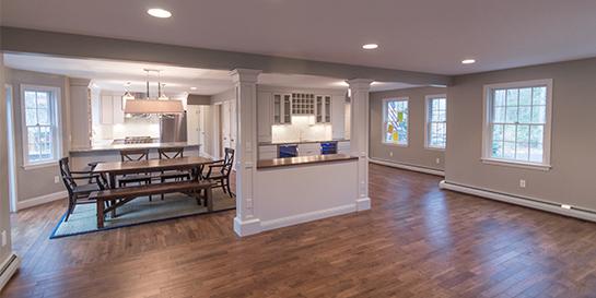 open concept floor plan home renovation gilford nh