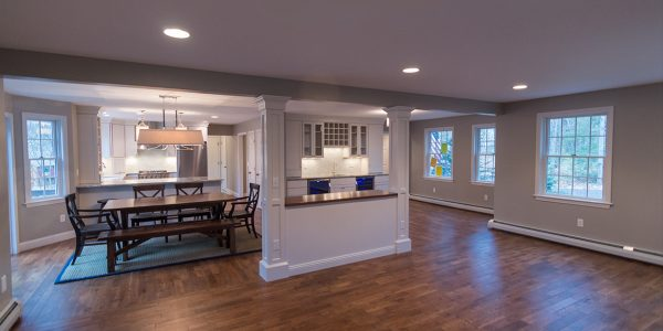 open concept first floor home renovation gilford nh