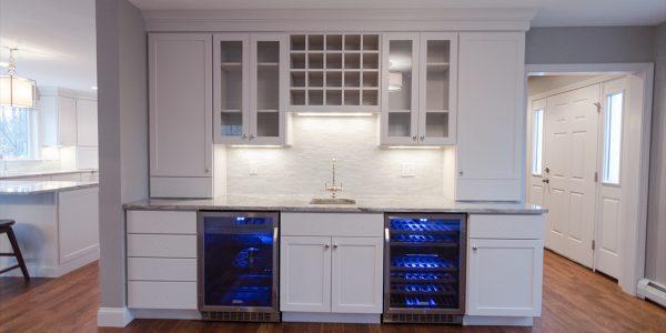 residential renovation custom wine bar gilford nh