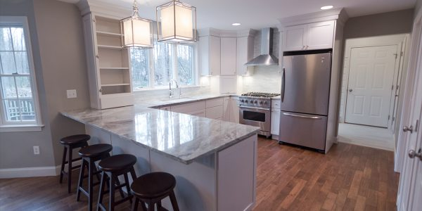 residential renovation white kitchen gilford nh