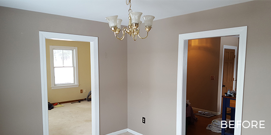 before and after sitting room remodel gilford nh