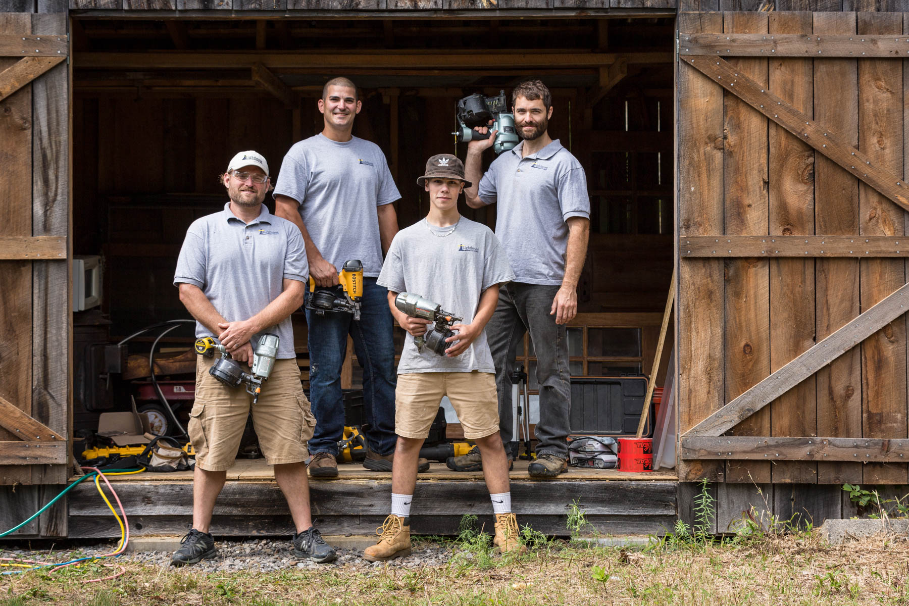 Lighthouse Contracting Group Team with tools