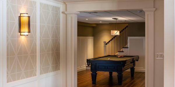 custom basement billiard room