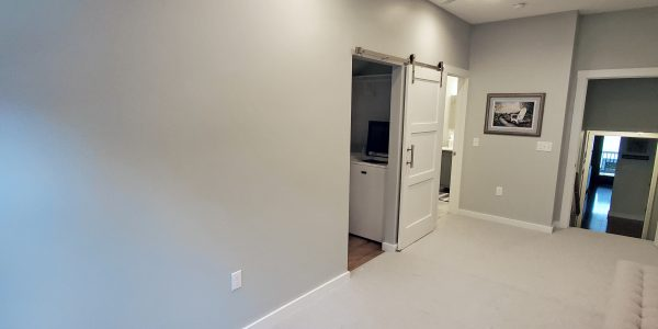 Grey and White Master Bedroom Addition