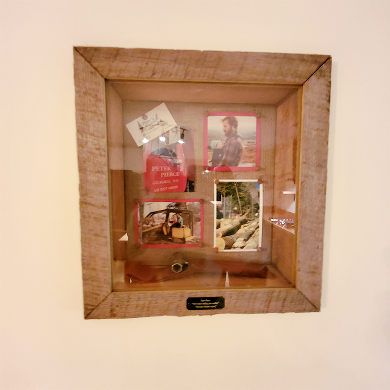 rustic wood shadow box built by lighthouse contracting group