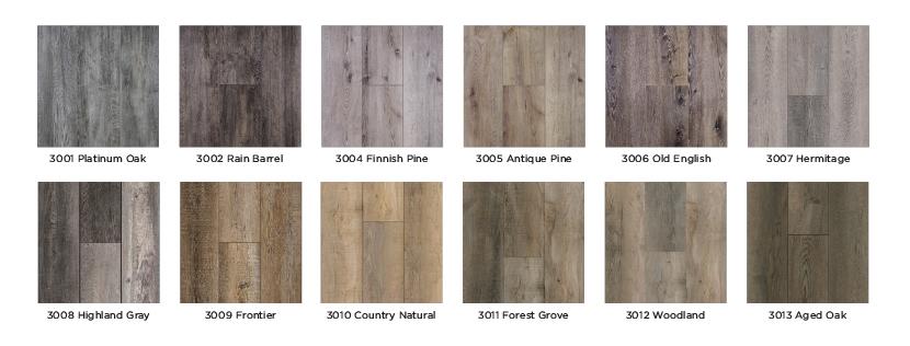Authentic Plank Color Choices
