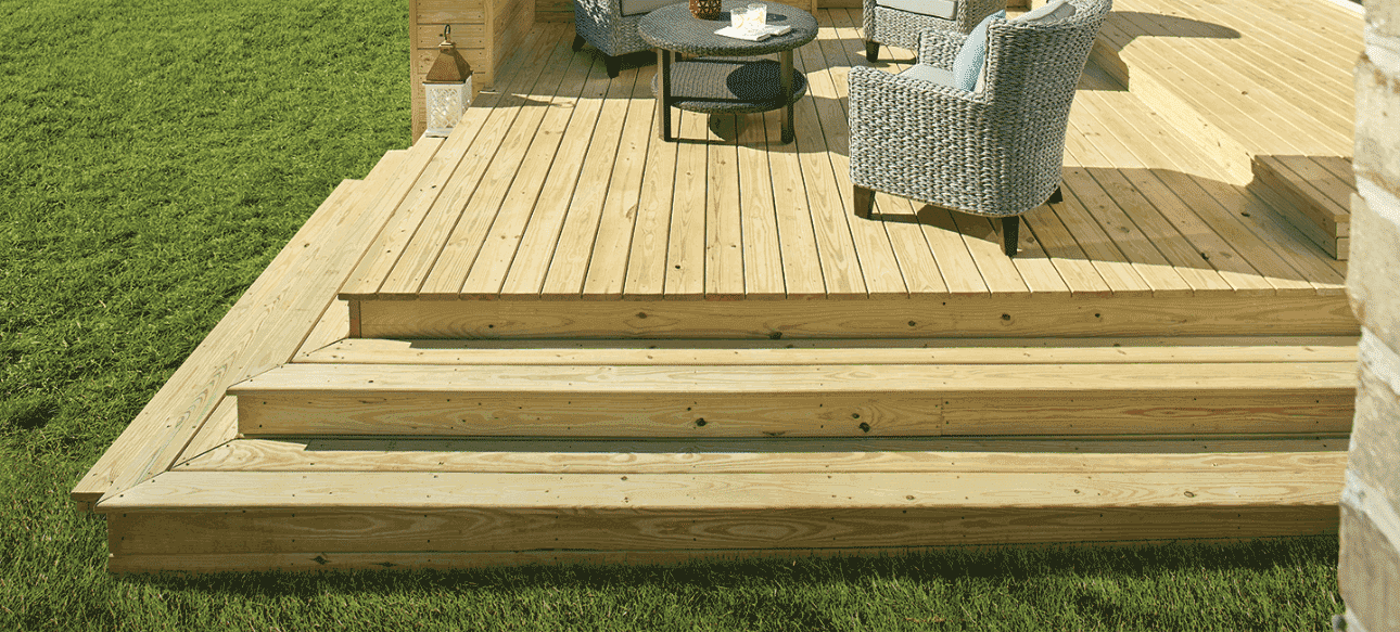 pressure treated pine deck