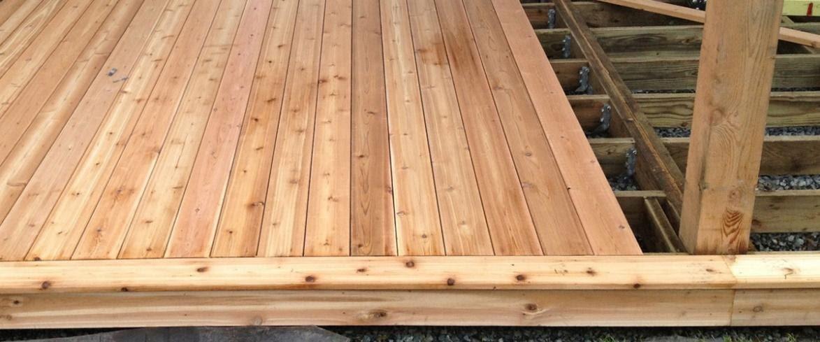 white cedar decking examples