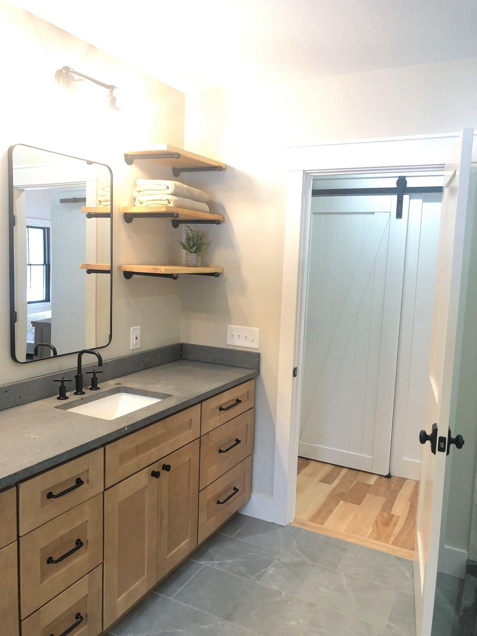 Warm neutral bathroom design Lauren Milligan