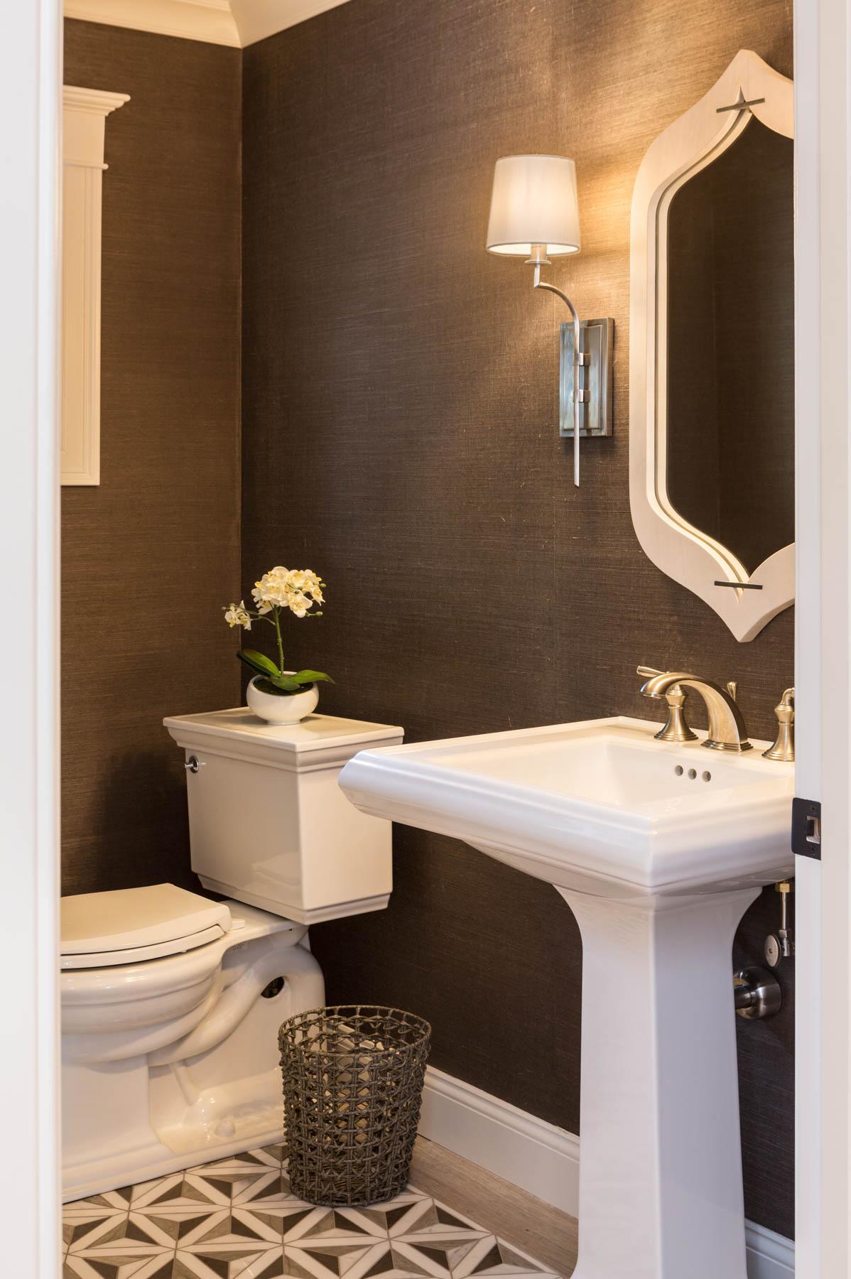 Artistic tile in bathroom by Lauren Milligan