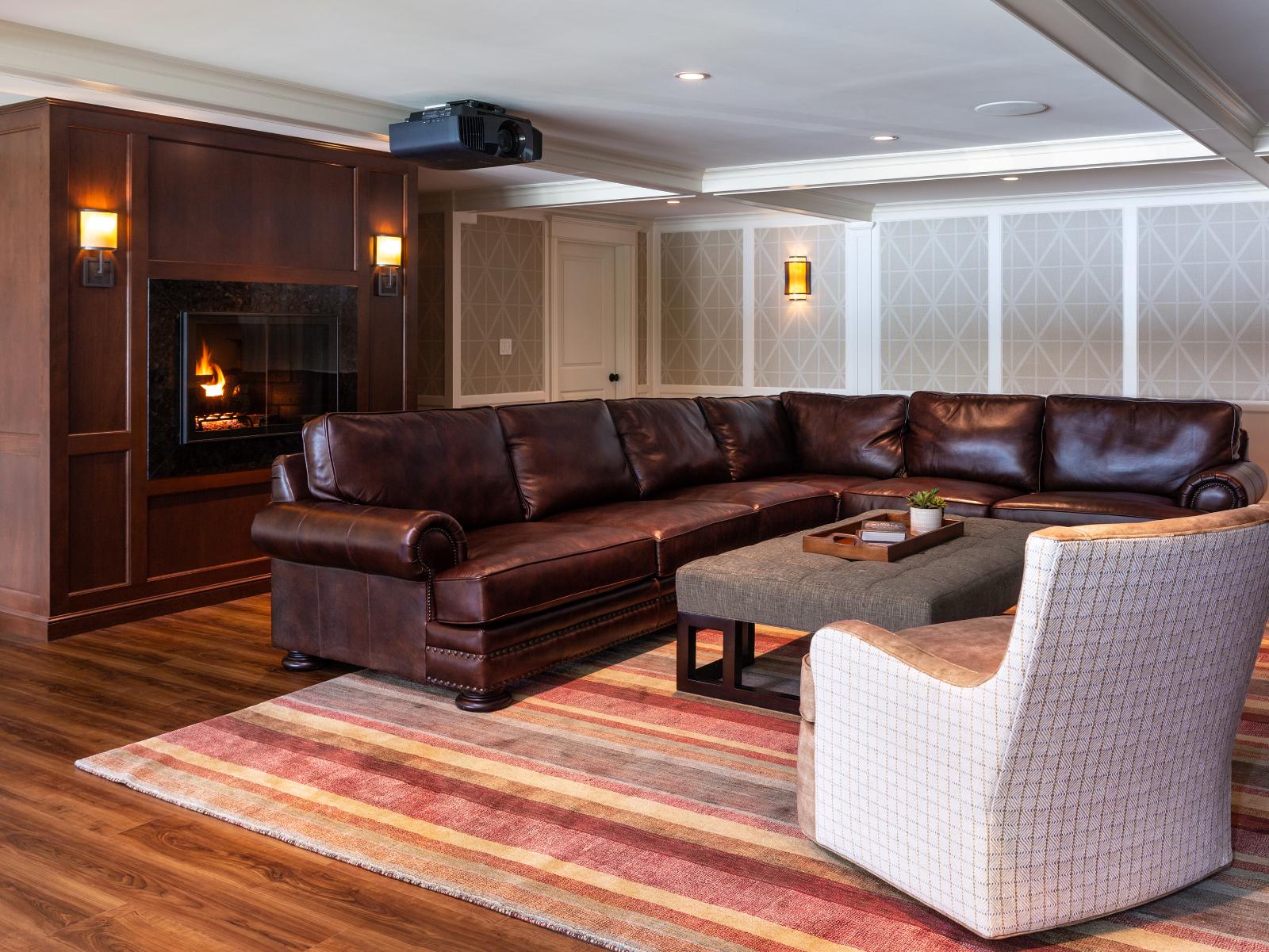 Living space design idea textured wallpaper