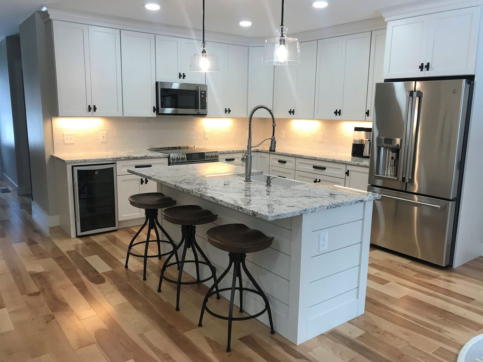 White kitchen cabinetry Eastman Street Woodworks