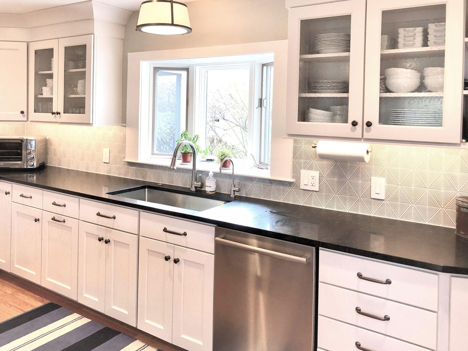 White and Black Kitchen Design by Lauren Milligan