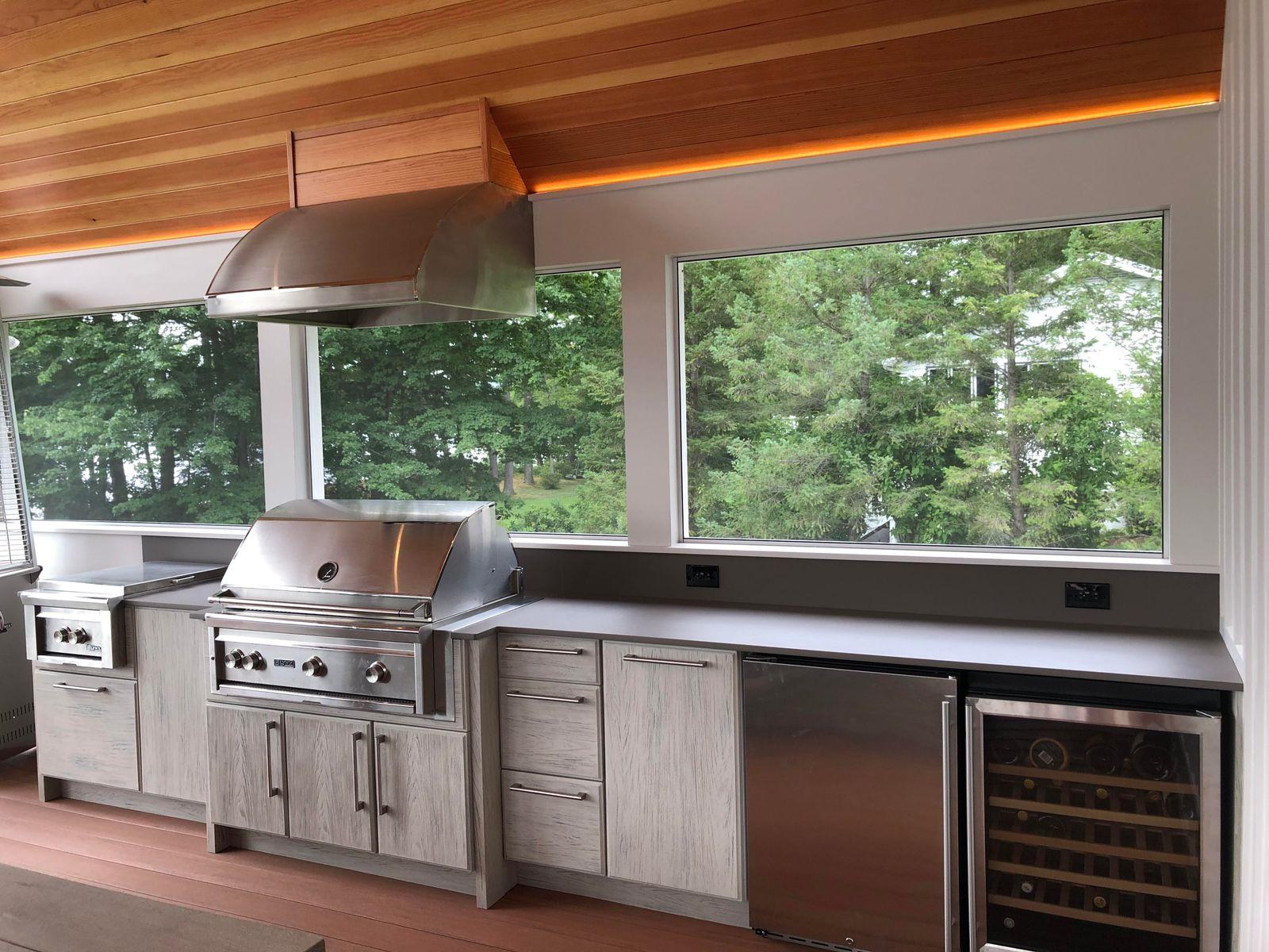 interior design outdoor kitchen lakehouse