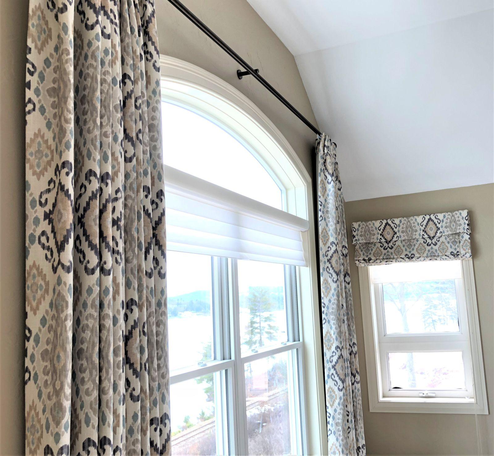Custom window drapes by Lauren Milligan