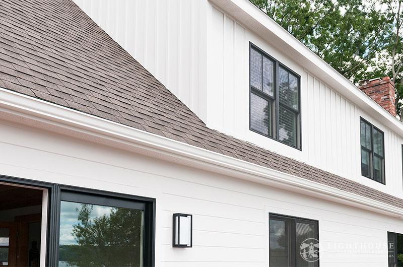 v-groove white farmhouse siding truexterior
