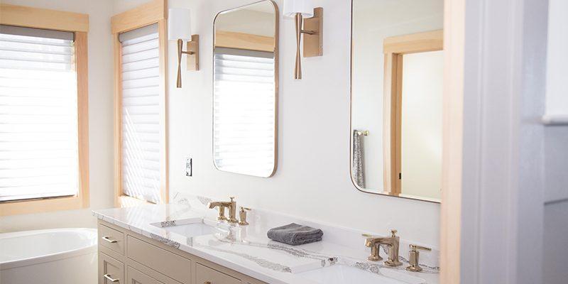 sunset inspired master bathroom design