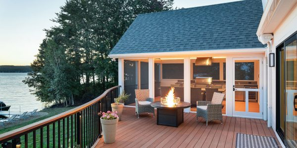 azek curved deck screen porch addition laconia nh