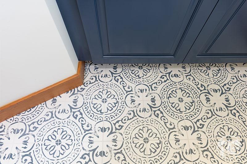 kenzzi indigo tile floor bathroom