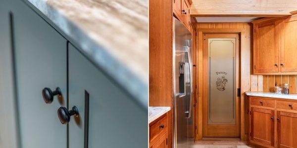 custom kitchen pantry door and island gilford nh