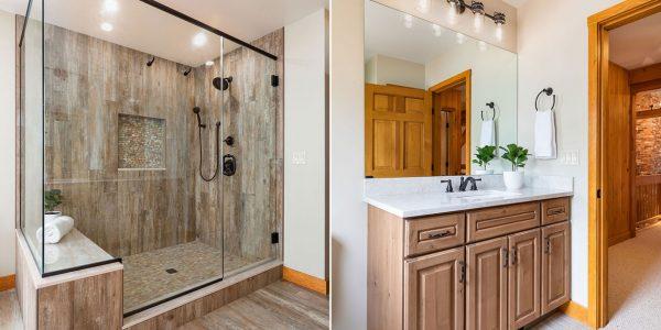 guest bathroom remodel neutral design
