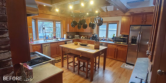 kitchen before remodel by lighthouse contracting group