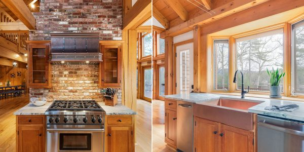 rustic kitchen copper accents gilford nh